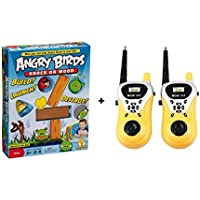 RIVOXX Angry Birds Knock on Wood Game Mattel with 2 Pieces Mini Electronic Walkie Talkie Radio Handheld Toys for Kids