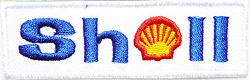 SHELL Motor Oil Fuel Gas Gasoline Station Motogp Nascar F1 Racing Biker Logo Sign Sponsor Motorsport Racing Biker Team Patch Iron on Applique Embroidered T shirt Jacket Costume Craft Accessories