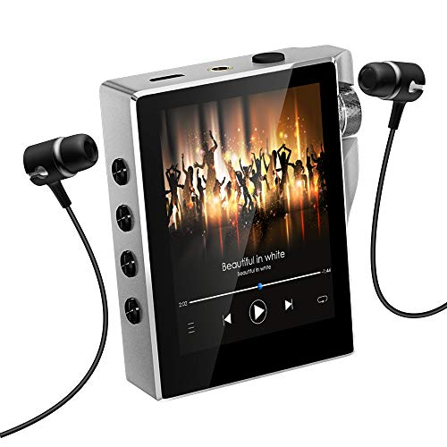MP3 Player with Bluetooth 4.2, Gueray New 16GB FM Radio Portable High Resolution Lossless Sound HiFi Music Player Digital Audio Walkman with Video E-Book Digital Recording SD Card Slot up to 128GB