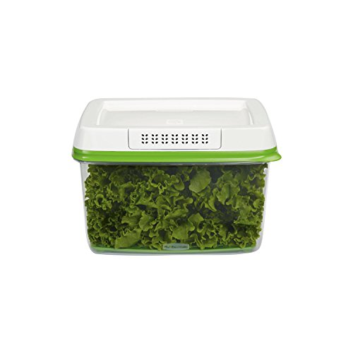 Rubbermaid FreshWorks Produce Saver Food Storage Container, Large, 17.3 Cup, Green Plastic Distributor Head