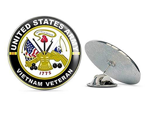 (NYC Jewelers Round US Army Vietnam Veteran (Military Troops Vet Served NAM) Metal 0.75