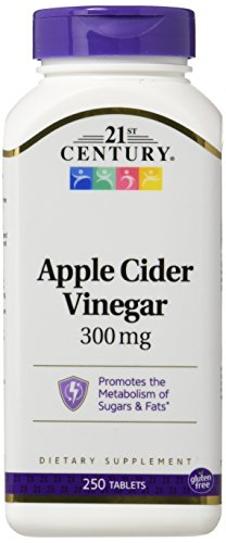 21st Century 300Mg Apple Cider Vinegar Tablets, 3 Count