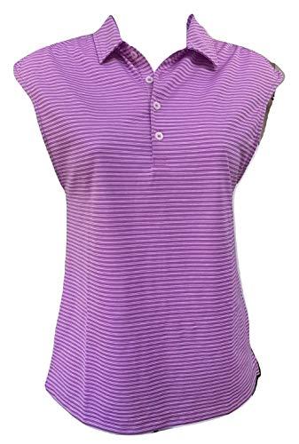 (Ralph Lauren Golf Women's Tailored Fit Sleeveless Polo Shirt Purple (Small))