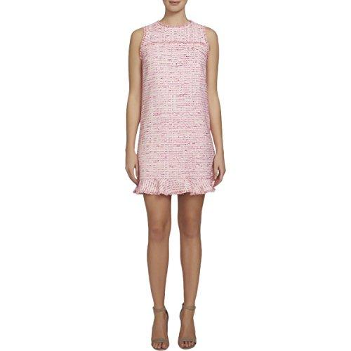 CeCe Womens Brie Tweed Ruffle Mini Dress Pink 6