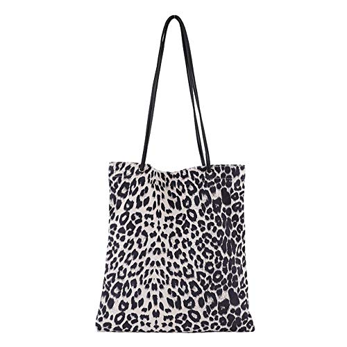 (Black Sales Friday Cyber Sales Monday Sales & Deals Week 2018-New Arrival- Women's Sexy Leopard Print Tote Bag Shoulder Bag Handbag Womens Shopping Bag Lady Bags Satchels Ipad Phone Bag (White))
