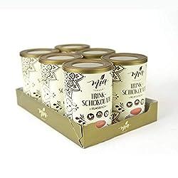 MIA Premium Trinkschokolade Klassisch mit 40% Kakaopulver, 6 x 180 g, vegetarisch, hochwertige Trinkschokolade heiß…