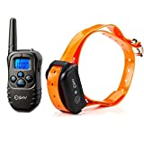 Esky 330 Yards Electronic Dog Training Ecollar, Beep, Vibration Shock Collar with Wireless Remote Adjustable Durable Water Proof Rechargeable Control Operation for Large, Medium and Small Dogs (15-120lbs)