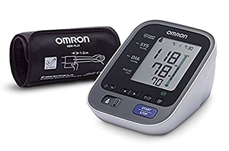 OMRON M7 Intelli IT - Tensiómetro de brazo, Bluetooth, aplicación OMRON Connect para móviles, tecnología Intelli Wrap Cuff + Adaptador de Corriente: ...