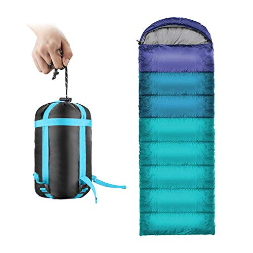 ieGeek Sleeping Bag, Ultralight Outdoor Envelope-Shaped Sleeping Bag Portable Compact with Compression Sack 4 Seasons Comfortable for Camping