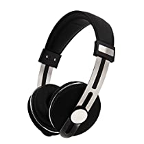 Yigenet v4.0 Bluetooth Headphones Over-Ear, Hifi Stereo Wireless Headset with Build-in Mic, 3.5mm Jack, Volume Control Button for for PC/ Cell Phones