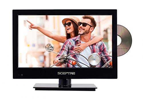 "Sceptre E165BD-MQ 16"" 720p 60Hz LED HDTV DVD Combo with Car Adapter (Piano Black)"