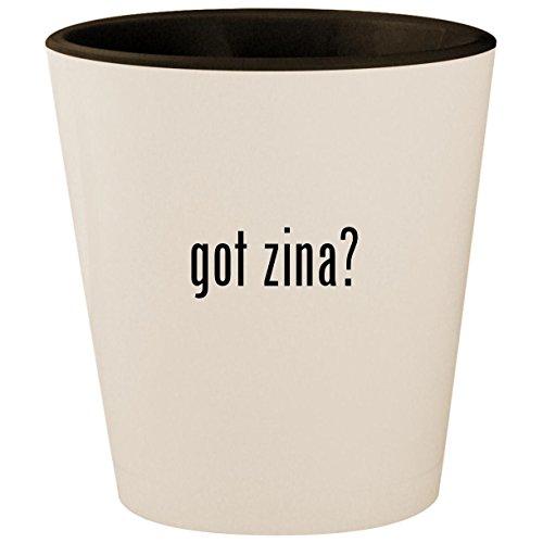 got zina? - White Outer & Black Inner Ceramic 1.5oz Shot Glass ()