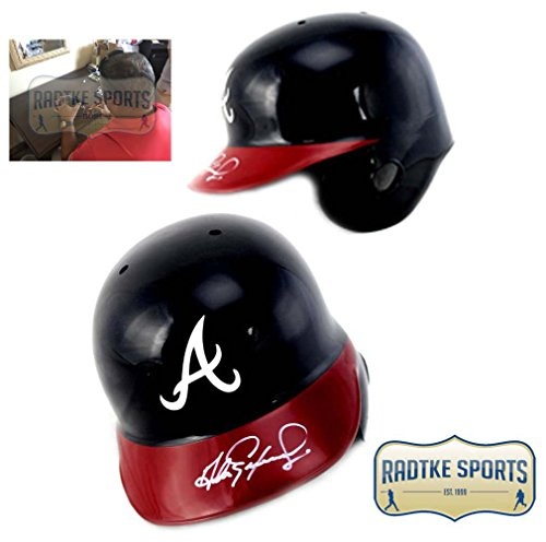 Andres Galarraga Autographed/Signed Atlanta Braves Rawlings Batting Helmet