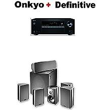 Onkyo Receiver (TX-SR383) + Definitive Technology ProCinema 600 5.1 Home Theater Speaker System Bundle