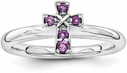 Jewelry Adviser Rings 14k 7x5mm Oval Amethyst Checker ring