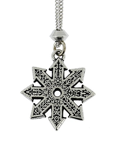 Handmade Star of Chaos Divine Fire Wheel Pewter Pendant ~ Magical Rune Warrior ~ 18+4 inch extender - Meaning Polarize