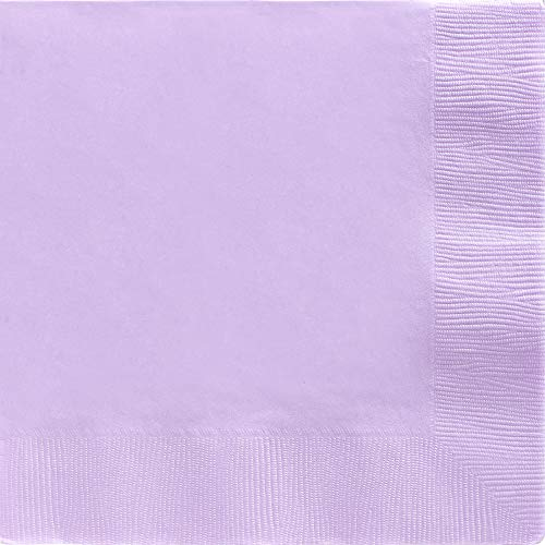 (Big Party Pack 2-Ply Dinner Napkins | Lavender | Pack of 50 | Party Supply)