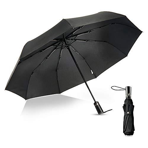boy Windproof Travel Umbrella, Compact Umbrella Automatic Open Close, 9 Ribs Reinforced Windproof Frame