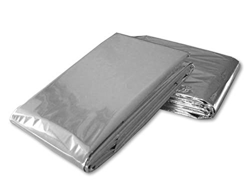 100 PACK • Emergency Solar Blanket Survival Safety Insulating Mylar Thermal Heat by SE
