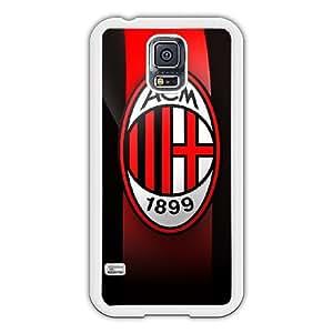 Samsung Galaxy S5 I9600 Case Black Red AC Milan Plastic Case Galaxy S5 I9600 Protective Cover Carcasa Blanco mr Wonderful