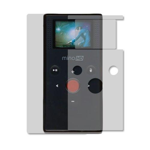 - Flip Mino HD Screen Protector + Full Body (2nd Gen), Skinomi TechSkin Full Coverage Skin + Screen Protector for Flip Mino HD Front & Back Clear HD Film
