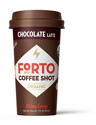 FORTO Coffee Shots - 200mg Caffeine, Chocolate Latte, High Caffeine Cold Brew Coffee, Bottled Fast Coffee Energy Boost, 12 pack