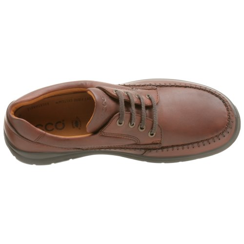 Ecco Mens Seawalker Cravatta Pelle Oxford Ruggine