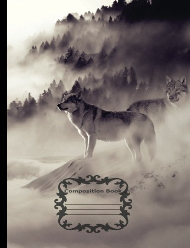 White Wolf - Mystical Winter, Composition Notebook: College Ruled 7.44