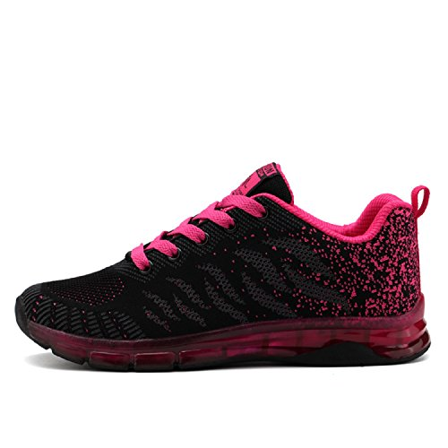LILY999 Women's Running Shoes Lightweight Sports Trainers Walking Fitness Gym Sneakers Red s4qSZQV
