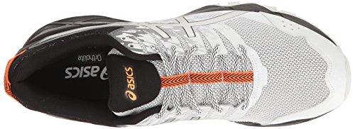 Asics Mens Gel-sonoma 3 Scarpa Da Corsa Bianco / Argento / Arancione Caldo