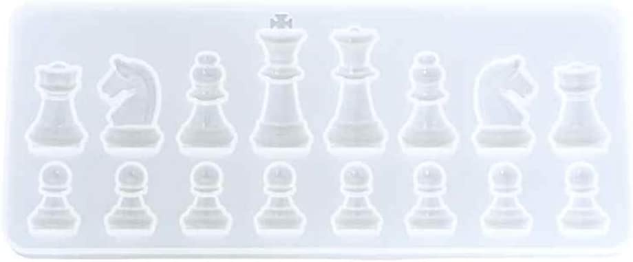 UV Resin Molds Silicone Molds for Chess Set for Adults Kids Chess