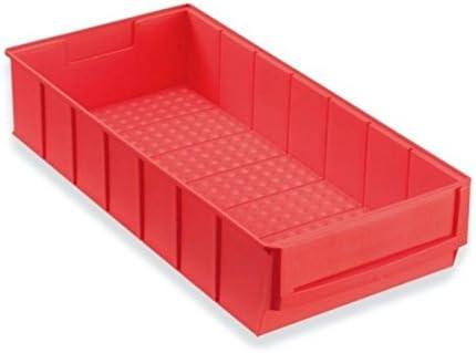 Caja industrial 400x183x81 mm rojo Cajas Almacén Cajas Apilables Caja Universal Caja Plástico Caja Plástico Caja Para Guardar: Amazon.es: Bricolaje y herramientas
