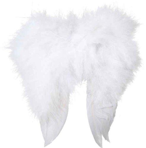 Weihnachtszubehör: Mini-Federflügel (ca. 16 x 16 cm) weiß 22096.01