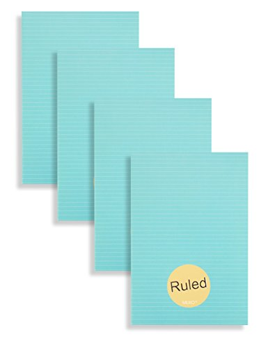 Miliko A5 Essential Series Softcover Ruled Notebook/Journal/Diary Set-8.27 Inches x 5.67 Inches, 4 Unique Designed Notebooks per Pack(RULED)