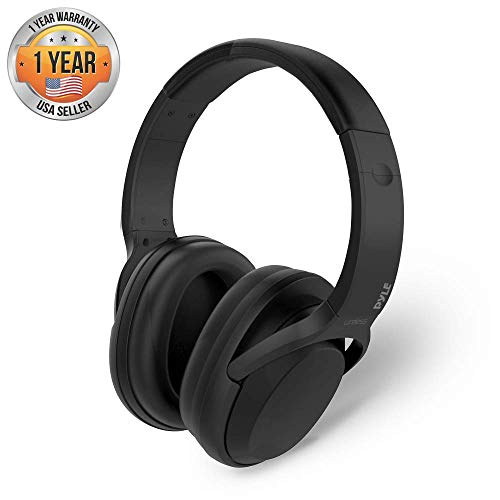Over-Ear Active Noise Canceling Headphones - Wireless Bluetooth Audio Streaming & Call Microphone - Travel Collapsible & Rechargeable Battery - Extreme Sound Isolation for Airplane - Pyle PBTNC50