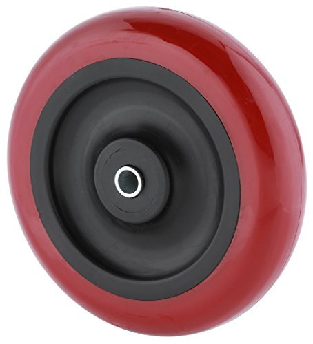 Steelex D2653 Polyurethane Wheel, Red, 5-Inch