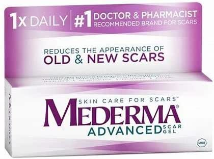 Mederma Advanced Scar Gel - 1x Daily: Use Less, Save More - Reduces The Appearance of Old & New Scars - #1 Doctor & Pharmacist Recommended Brand for Scars - 0.7 Ounce (2 Packs(1.76 Ounce))
