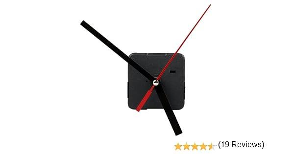 Maquinaria Mecanismo Reloj Agujas Manualidad de Artesanía AA Negro: Amazon.es: Relojes
