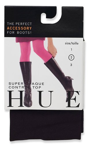 HUE Super Opaque Tights with Control Top Black 2