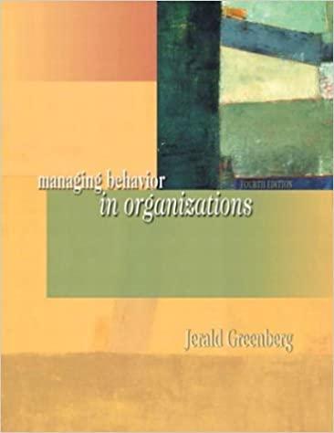 Amazon managing behavior in organizations 4th edition amazon managing behavior in organizations 4th edition 9780131447462 jerald greenberg books fandeluxe Images