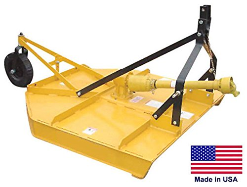 Field & Brush Mower Rotary Cutter - 3 Point Hitch Mounted - Pto Driven - 48