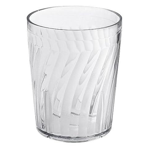 GET Hard Clear Plastic 6 Oz. Tahiti Textured Rocks Tumbler [Box of 72] - Drinkware Tahiti Tumblers