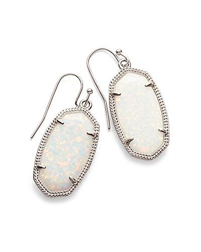 Kendra Scott Signature Dani Earrings in Rhodium Plated and White Kyocera Opal by Kendra Scott (Image #2)