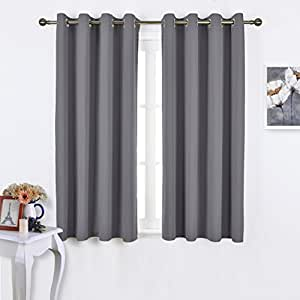NICETOWN Bedroom Blackout Curtains Panels   Window Treatment Thermal  Insulated Solid Grommet Blackout For Living Room
