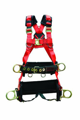 Elk River 66620 EagleTower Polyester/Nylon LX 6 D-Ring Harness with Quick-Connect Buckles, X-Small