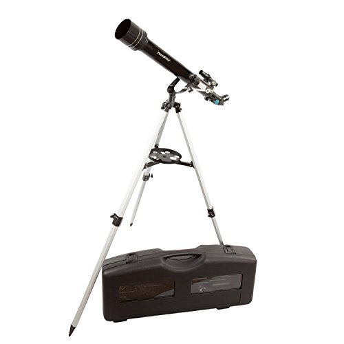 Twinstar 60mm Refractor Telescope (Black) with Hard Carry Case