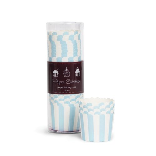 Paper Eskimo Baking Cups, Powder Blue, 25-Pack