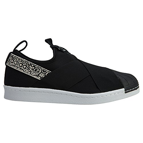 Adidas Dames Superstar Slipon W, Zwart / Wit Zwart / Zwart / Wit