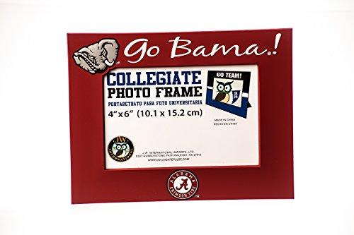 Ncaa Picture Frame (Collegiate Pulse ALABAMA CRIMSON TIDE NCAA PVC PHOTO FRAME, HOLDS 4