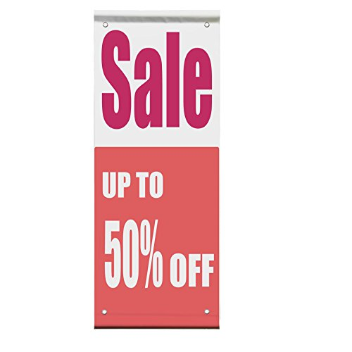 Sale Up To 50% Off Custom Double Sided Vertical Pole Banner Sign 30 in x 60 in w/ Wall - Off Sale Up 50 To